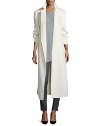 Joseph Wool Blend Long Wrap Coat Off White Size 42
