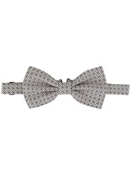 Dolce And Gabbana Printed Jacquard Bow Tie White