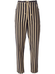 Ter Et Bantine Striped Casual Trousers Black
