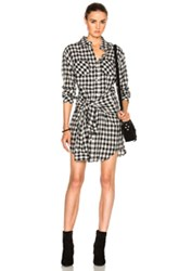 Current Elliott Twist Shirt Dress In Checkered And Plaid Checkered And Plaid