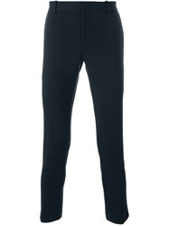 Paolo Pecora Fitted Trousers Blue