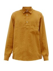 Schnayderman's Patch Pocket Crepe Shirt Yellow