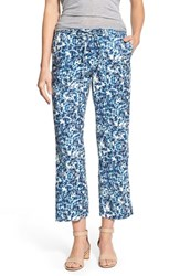 Women's Nydj 'Jamie' Relaxed Ankle Flared Pants Midnight Fern