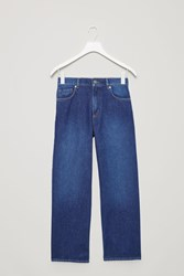 Cos Straight Cropped Jeans Blue