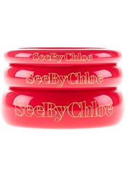 See By Chloe Stack Of Three Bracelets Pink And Purple
