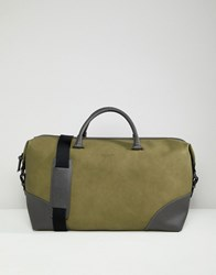 Ted Baker Inferno Holdall In Nubuck Look Green