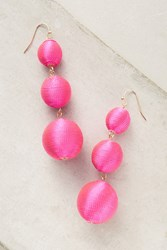 Anthropologie Crispin Drop Earrings Pink