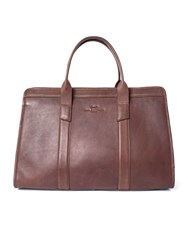 Paul Costelloe Lincoln Structured Leather Holdall Brown