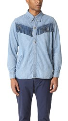 Remi Relief Fringe Jacket Used Blue