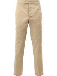 Moncler Gamme Bleu Classic Chino Trousers Nude Neutrals