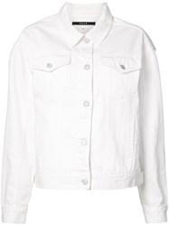 Ksubi Denim Jacket Women Cotton M White