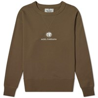 Nigel Cabourn Embroidered Globe Sweat Green
