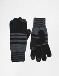 Totes Knitted Gloves With Smart Touch Black