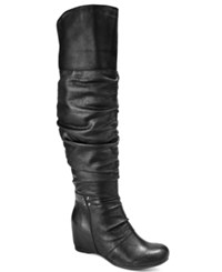 Bare Traps Valry Over The Knee Boots Women's Shoes Black