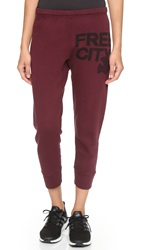 Freecity Swami Featherweight Sweatpants Indian Wine