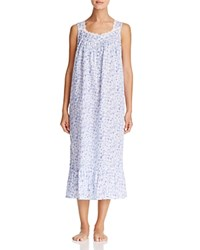 Eileen West Lawn Sleeveless Ballet Gown White Ground Blue Roses