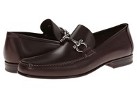 Salvatore Ferragamo Giordano Gancio Bit Loafer Marrone Men's Slip On Dress Shoes Brown