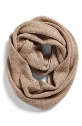Women's Halogen Pointelle Knit Wool And Cashmere Infinity Scarf Beige Beige Oatmeal Medium Heather