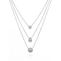 Apples And Figs Layered Solitaire Necklace