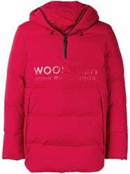 Woolrich Loose Padded Jacket Red