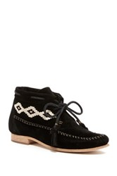 Soludos Embroidered Moccasin Bootie Black