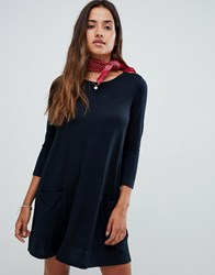 Abercrombie And Fitch Cozy Pocket Front Dress Solid Black