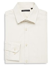 Theory Dover Cotton Blend Dress Shirt Ivory