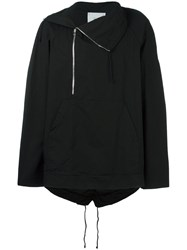 Lost And Found Rooms Off Centre Zip Parka Black