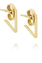 Ana Khouri V 18 Karat Gold Earrings
