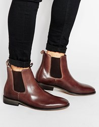 Bellfield Leather Chelsea Boots Brown
