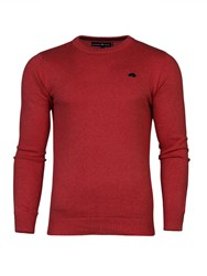 Raging Bull Men's Cotton Crew Sweater Red