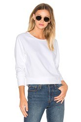 James Perse Fleece Dolman Raglan Pullover White