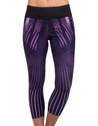 Jockey Deco Engineered Print Capris Electric Violet