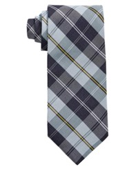 Brooks Brothers Men's Forsythe Plaid Classic Tie Blue