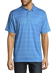 Callaway Striped Button Front Tee Bright White