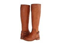 Frye Shirley Shield Tall Cognac Smooth Vintage Leather Cowboy Boots Brown