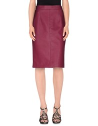 Miu Miu Skirts Knee Length Skirts Women Garnet