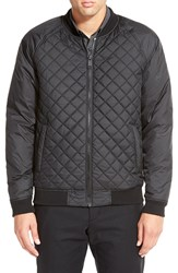 Calibrate Quilted Zip Front Bomber Black Caviar