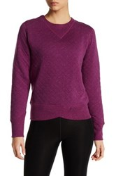 Brooks Fly By Quilted Running Sweatshirt Pink