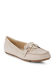 Anne Klein Myles Embossed Leather Loafers Taupe