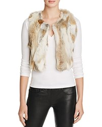 525 America Multi Color Fur Super Crop Vest Winter White Combo