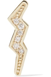 Andrea Fohrman Mini Bolt 14 Karat Gold Diamond Earring One Size