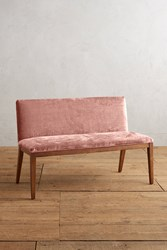 Anthropologie Slub Velvet Emrys Bench Pink