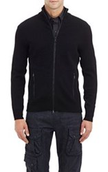 Ralph Lauren Black Label Zip Front Sweater Black