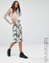 Missguided Tall Camo Print Pencil Skirt Multi