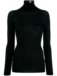 Victoria Beckham Fitted Turtle Neck Sweater Black