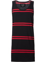 Zanerobe Striped Tank Top Black