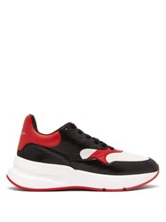 Alexander Mcqueen Runner Raised Sole Low Top Leather Trainers Black Red