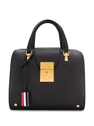 Thom Browne Zip Top Deerskin Mrs. Jr. Bag Black