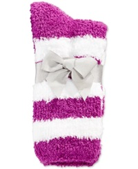 Charter Club Women's Rugby Stripe Socks Only At Macy's Purple Yam
